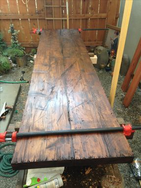 Custom Made Hand Hewn Distressed Table Top