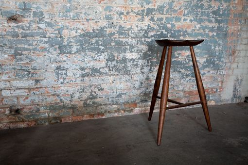 Custom Made Tall Walnut Stools