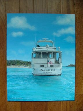 Custom Made Boat Painting