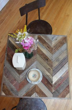 "Custom Made Rustic Reclaimed & Sustainably Harvested Wood Pub Kitchen End Table ""Arrowhead''"