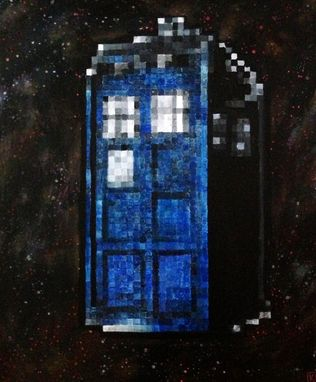 Custom Made Pop Culture Pixel Art Acrylic Painting