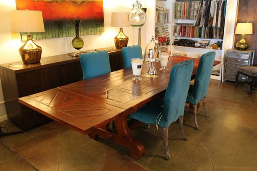 Custom Made Lourdes Trestle Dining Table In Reclaimed Wood