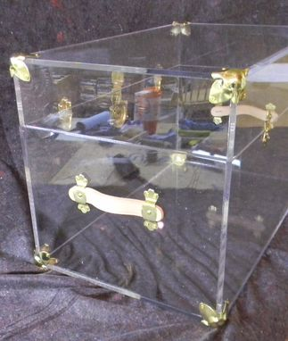 "Custom Made The Lucite Trunk - Beautiful 3/8"" Thick Acrylic, Hand Crafted, Made To Order"