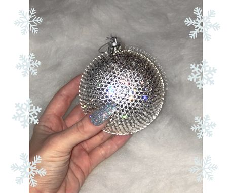 Custom Made Fully Crystallized Swarovski Crystal Christmas Ball Ornament Bling Tree Decor Bedazzled