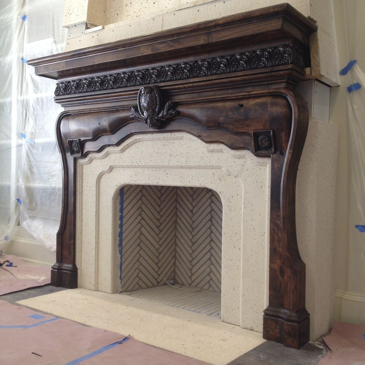 Hand crafted master suite fireplace mantel by weck design custom made master suite fireplace mantel teraionfo