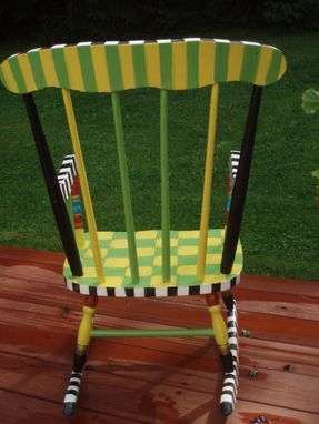 Custom Made Hand Painted Child's Rocking Chair - Custom