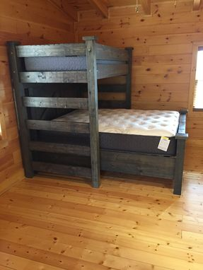 Custom Made Twin And Queen Bunk Bed