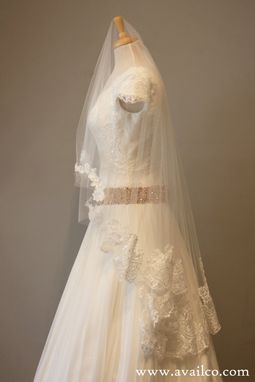 Custom Made Lace Drop Veil - Jacqueline Style
