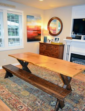 Custom Made Live Edge Cedar Dining Table