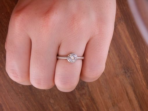 Custom Made Custom Bezel Diamond Engagement Ring