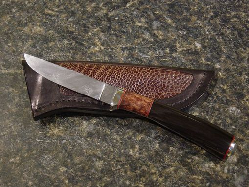 Custom Made Damascus Bird & Trout Hunter