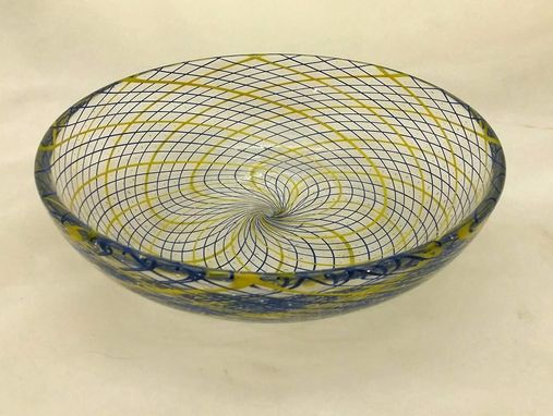 Custom Made Blown Glass Reticello Bowl