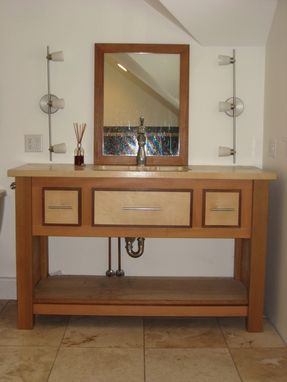 Custom Made Vanity Cedar And Mahogany