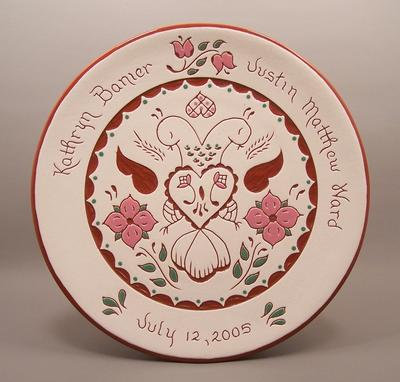 Custom Made #11- 10 In. Pennsylvania Dutch Wedding Plate