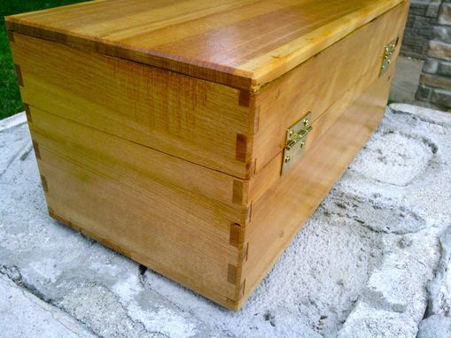 Custom Made Repurposed Hickory Box With Traditional Joinery