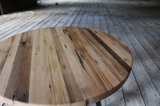 Custom Made Circular Reclaimed Wood Coffee Table