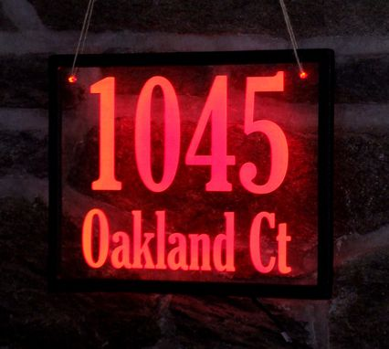 Custom Made Led Lit House Number Sign In Acrylic
