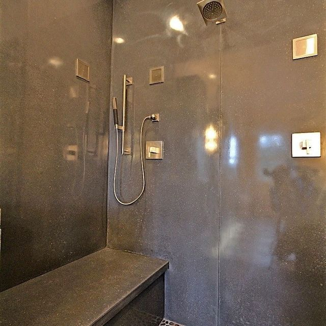 Bathroom Stalls In Other Countries hand crafted concrete shower stallinfistone - concrete