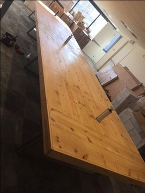 Custom Made 24'X6' Rustic Conference Table With Data Ports!