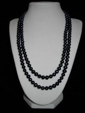 Custom Made Multi Strand Black Pearl Necklaces