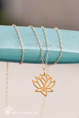 Custom Made Lotus Flower Necklace