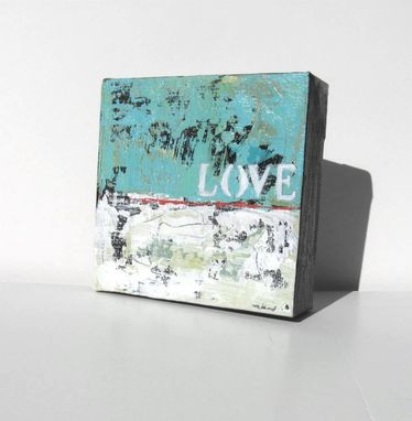 "Custom Made Turquoise Original Acrylic Abstract Expressionist Painting ""Love"" By Brooke Howie"