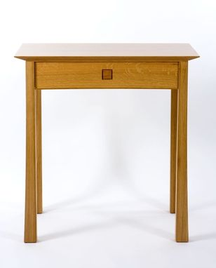 "Custom Made Side Table ""Torii"" In White Oak"