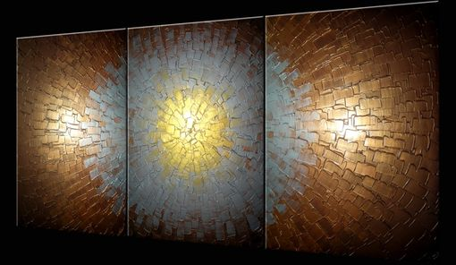 Custom Made Abstract Painting, Textured Paintings, Silver Gold Bronze, Original Acrylic Painting
