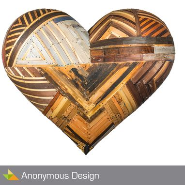 Custom Made Heart Wood - Sculpture