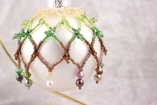 Custom Made Beaded Ornament, You Choose Colors And Size