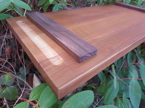 Custom Made Black Cherry Cutting/Serving Board, With Feet