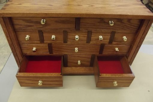 Custom Made Locking Multi-Drawer (Or Apothecary Style) Jewelry Box