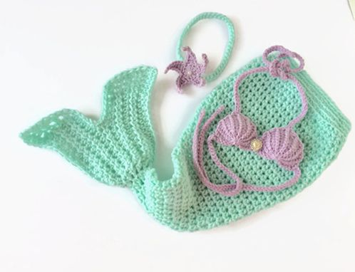 Custom Made Mermaid Costume Seashell Bra Starfish Headband