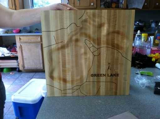 Custom Made Topographical Cutting Board