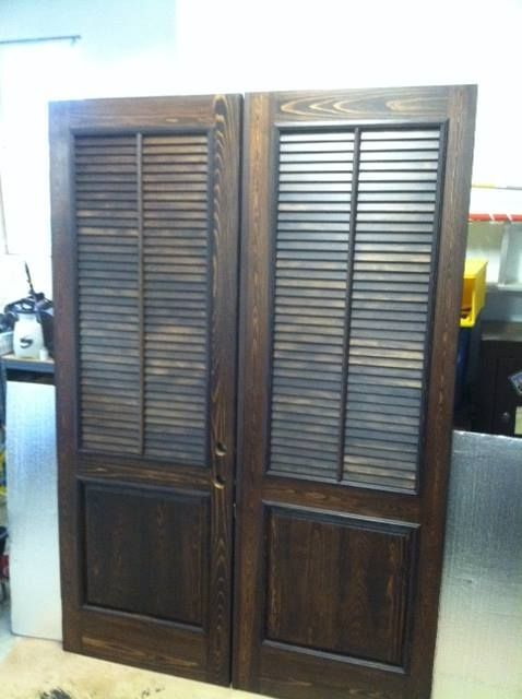 Custom Made Cypress Exterior Shutter Door 8 Foot By Wm Pinion Fine