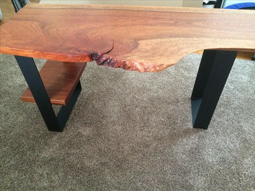 Custom Made Brazilian Cherry Live Edge Desk