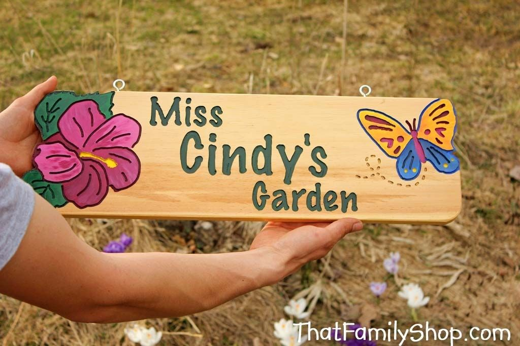 Handmade Garden Sign Custom Gift by That Family Shop