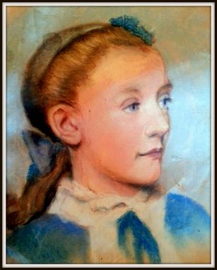Custom Made Pastel Portrait Of Young Girl