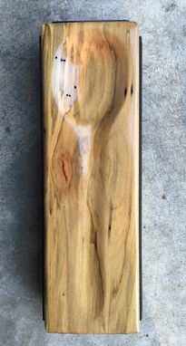 Custom Made Industrial Design Wooden Spoon Rest - Ambrosia Maple