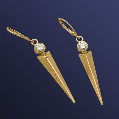 Custom Made Diamond Dart Earring