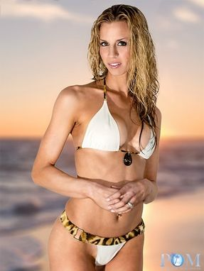 Custom Made Belted Bikini With Stone Accent