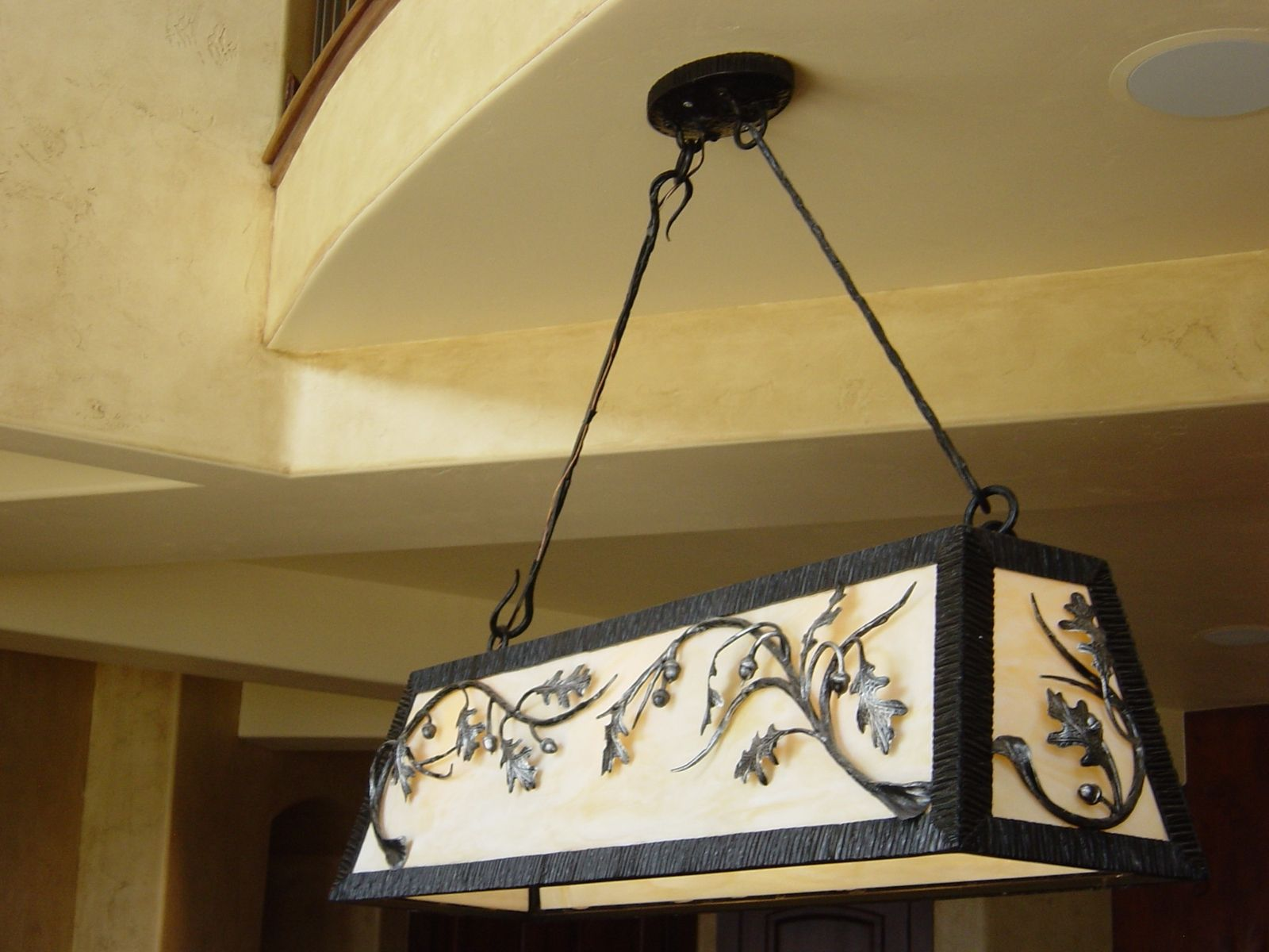 Hand Made Forged Pool Table Light By Reflections From The Forge - Pool table light installation
