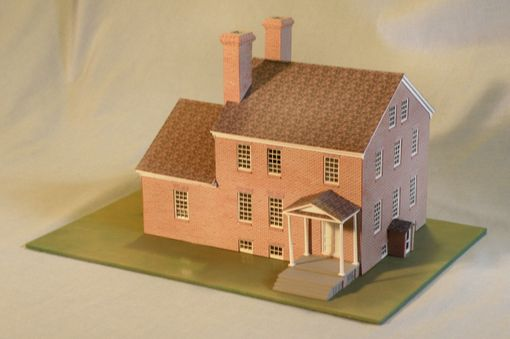 Custom Made Model Of A Brick Farm House