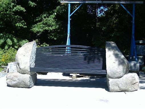 Custom Made Split Boulder Bench
