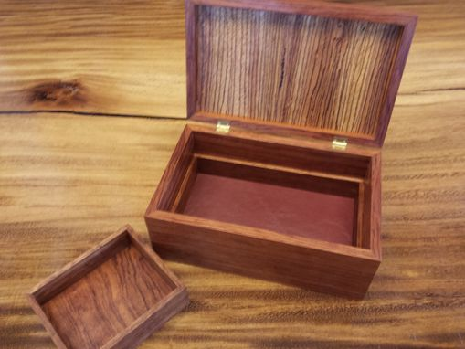 Custom Made Bubinga And Zebrawood Jewelry Box