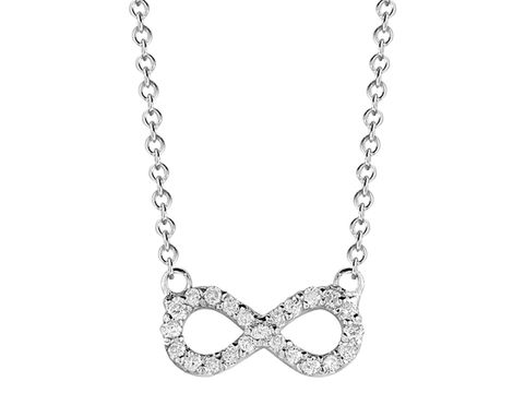Custom Made Diamond Infinity Necklace