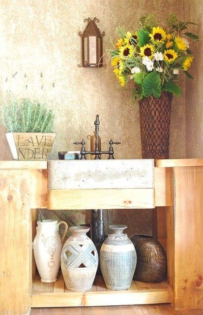 custom made tuscan kitchen prep sink - Tuscan Kitchen Sinks