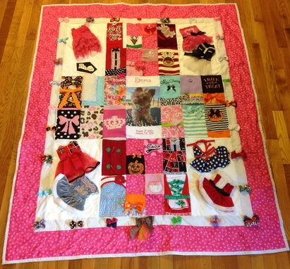 Custom Made Custom Embroidered Pet Photo Clothing Dog Memory Quilt