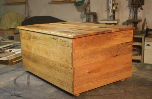 Custom Made Reclaimed Barn Wood Storage Chest