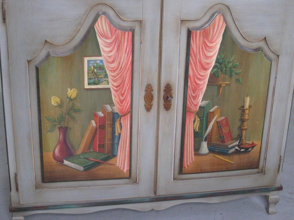 Hand Made Custom Made 2 Door European Style Hand Painted Cabinet ...